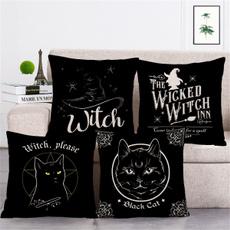 cottonlinen, Halloween, sofapillowcover, Pillow Covers
