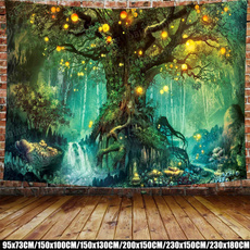 treetapestry, Wall Art, hippie, Colorful