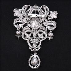 Woman, Jewelry, pearls, Rhinestone