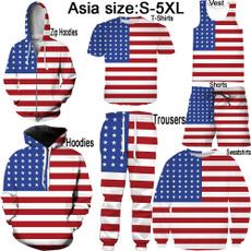 Vest, Shorts, Star, American