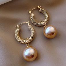pendantearring, Hoop Earring, Jewelry, Pearl Earrings