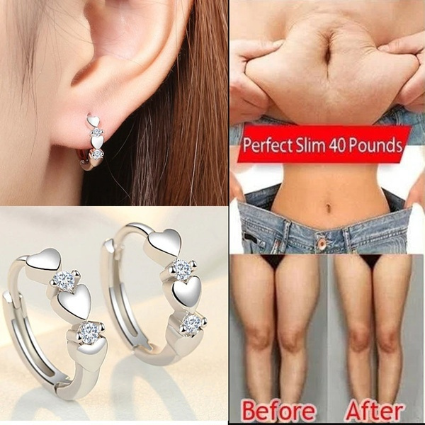 Cubic Zirconia, DIAMOND, stainless steel earrings, Weight Loss Products