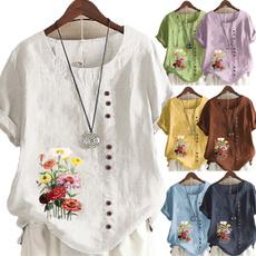Summer, Plus Size, Clothing for women, Women Blouse