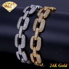 Steel, goldplated, DIAMOND, Jewelry