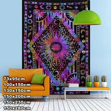 tapestrywall, tapestryforbedroom, sunmoontapestry, hippie
