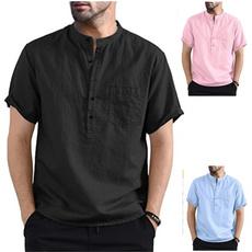 Summer, Shirt, solidcolorshirt, Tops