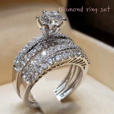 Sterling, DIAMOND, Jewelry, Ring