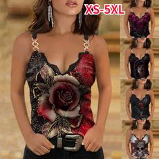 Summer, Plus Size, Shirt, Rose