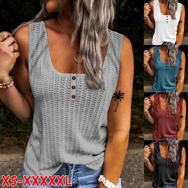 halter top, Summer, Vest, Plus Size