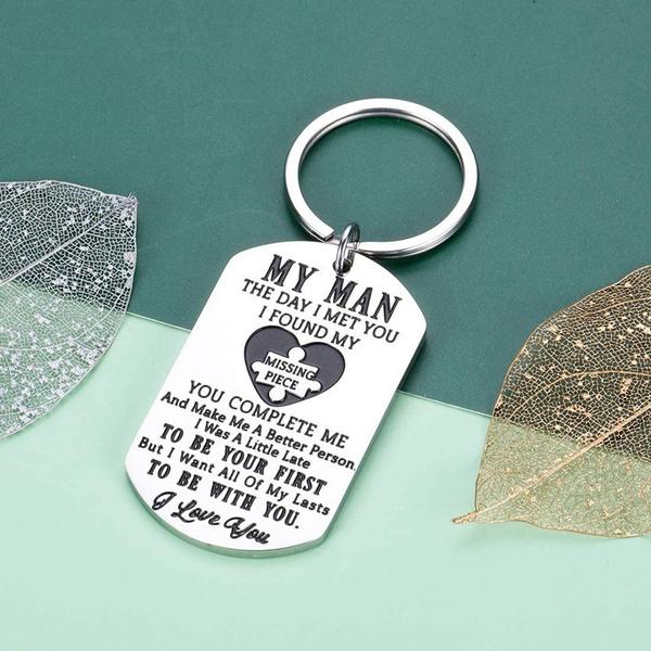 Steel, Love, boyfriendgift, Key Rings