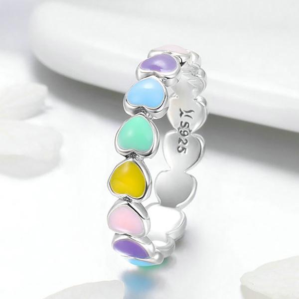 bridalring, rainbow, wedding ring, 925 silver rings