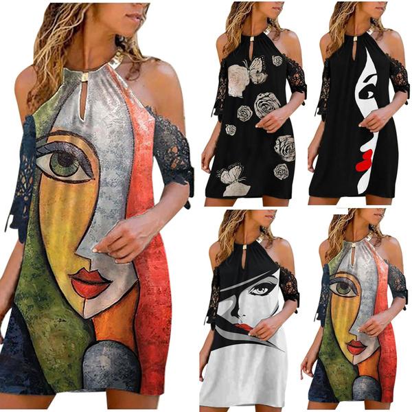 Summer, strapless, Plus Size, sleeve dress