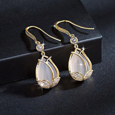 DIAMOND, wedding ring, gold, Stud Earring