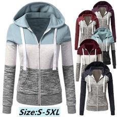 Plus Size, Coat, Hoodies, Zip