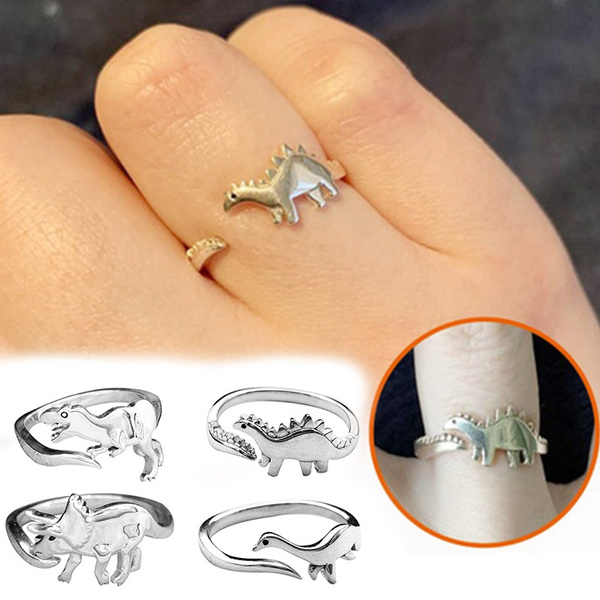 stegosaurusring, animalring, longneckeddragon, Dinosaur