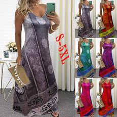 slim dress, Plus Size, Deep V-neck Dress, Summer