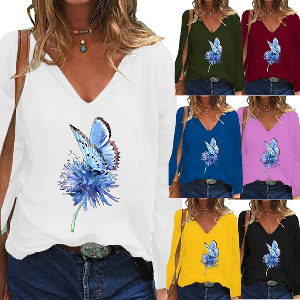 butterflyprint, Tops & Tees, Plus Size, butterfly