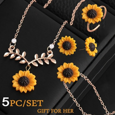 goldplated, Fashion, leaf, Jewelry