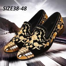 dress shoes, moccasinshoe, embroideryshoe, leather