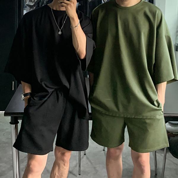 pajamaset, Shorts, Sleeve, Summer