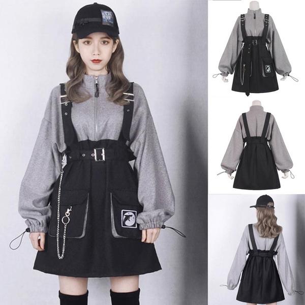 Goth, streetclothing, Chain, Long Sleeve