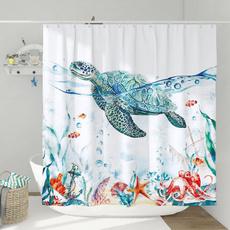 Turtle, Polyester, Bathroom Accessories, bathroomdecor