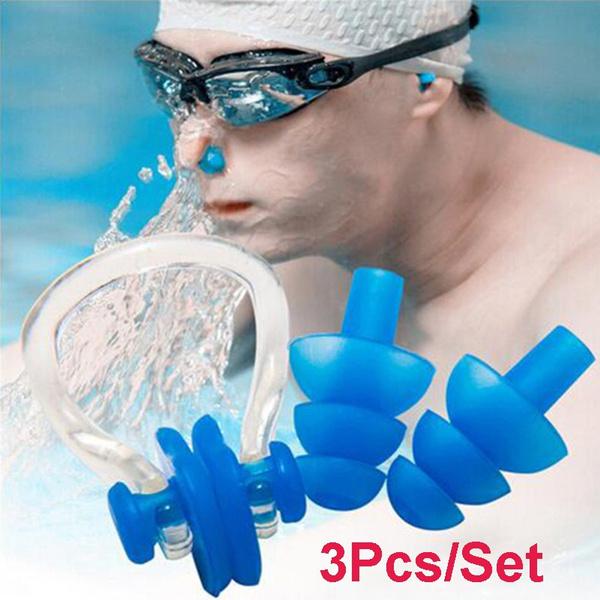 noseclipsforswimming, earplugsforswimming, Waterproof, Silicone