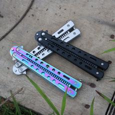 butterfly, Steel, Stainless Steel, butterflyknifecomb