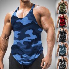 Summer, bodybuildingvest, Fashion, camouflage tank tops