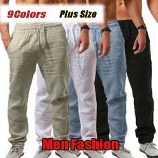 Summer, Fashion, Elastic, pants