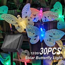 butterfly, Fiber, led, Garden