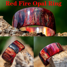 blackfireopalring, fireopalring, Fashion, wedding ring