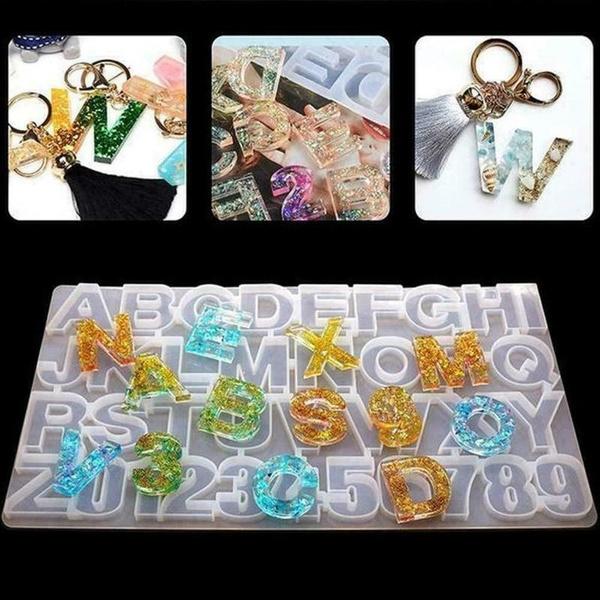 alphabetmold, Key Chain, Jewelry, Crystal