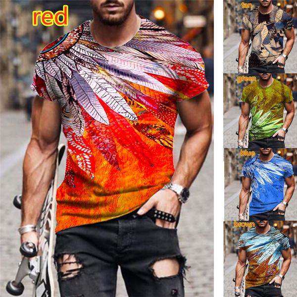men clothes, Summer, Funny T Shirt, Necks