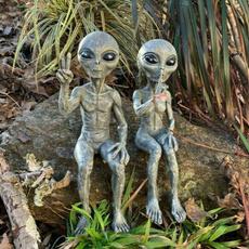 Funny, aliengardenstatue, art, Garden