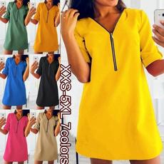 Summer, Plus Size, Fashion, Sleeve
