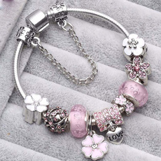 pink, Sterling, Flowers, Jewelry