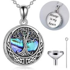 Sterling, cremationurnnecklace, funnel, 925 sterling silver