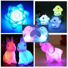colorfullamp, elephantledtoy, lights, led