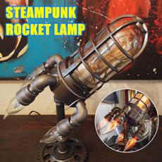 Night Light, steampunkrocketlamp, Office, indoorlighting