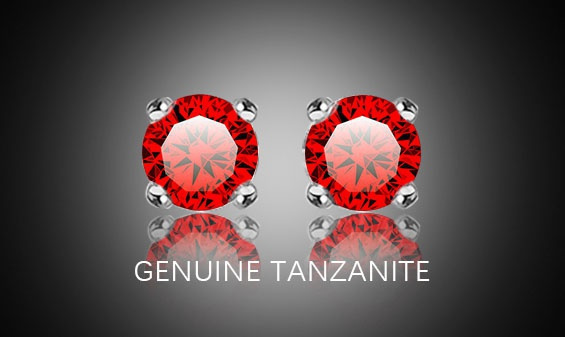 Fashion, Princess, Gemstone Earrings, tanzaniteearring