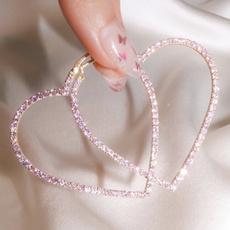 Sterling, Heart, Silver Jewelry, DIAMOND