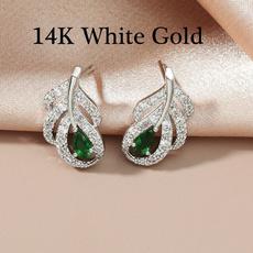 White Gold, DIAMOND, Stud, gold