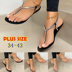 Summer, Flip Flops, hotrhinestone, Womens Shoes