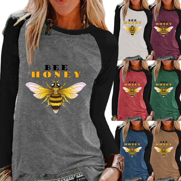 Fashion, Graphic T-Shirt, raglanshirt, Long Sleeve