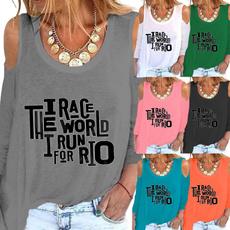 blouse, Plus Size, Graphic T-Shirt, letter print