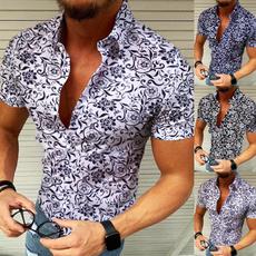 buttonupshirt, flowershirtformen, partyshirt, Summer