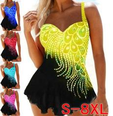 Summer, Plus Size, Halter, bathing suit