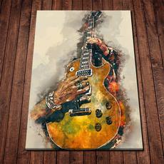 Guitars, canvasprint, Wall Art, Home Decor