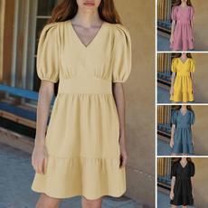 Mini, short sleeve dress, pleated dress, plus size dress
